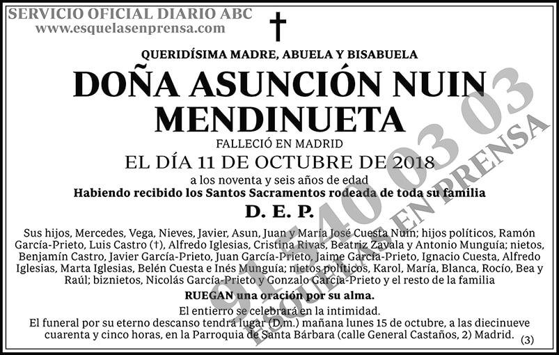 Asunción Nuin Mendinueta